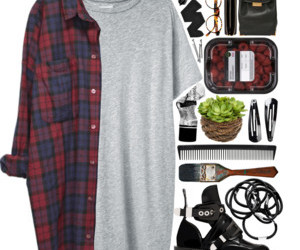 autumnal outfit, polyvore.com, and jesienny outfit image