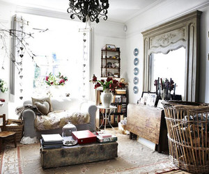 living room and shabby chic image