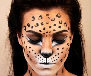 Halloween, halloween makeup, and cheetah makeup image
