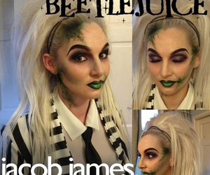 halloween makeup, female beetlejuice, and beetlejuice makeup image