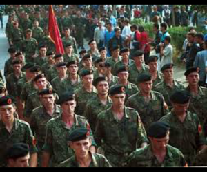 soldier, albania, and uck image