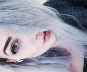 aesthetic, grey hair, and grunge image