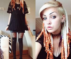 alt girl, dyed hair, and hair image