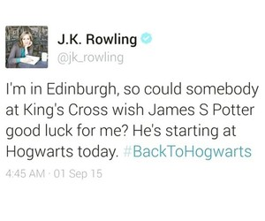 harry potter, hogwarts, and j. k. rowling image