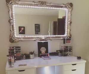 makeup and bedroom image