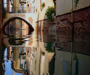 bridge, canal, and italia image