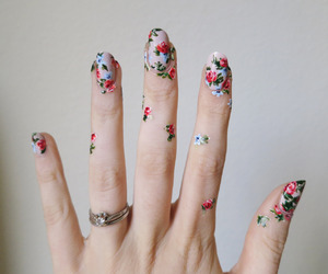 nails, flowers, and art image