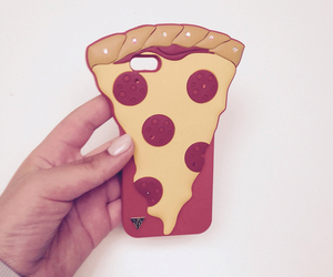 pizza, case, and food image