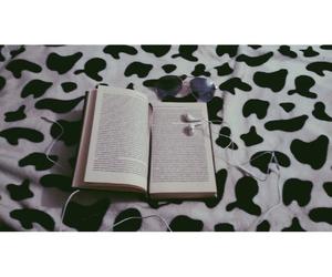 autumn, books, and music image
