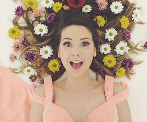 zoella, flowers, and zoe sugg image