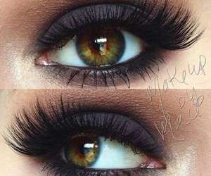 dark, eyes, and makeup image
