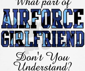 adorable, air force, and girlfriend image