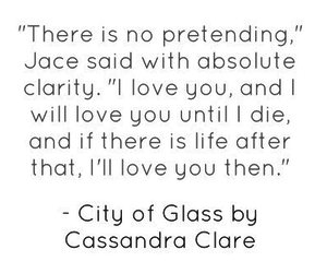 jace and clary and love image