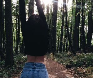 girl, forest, and tumblr image
