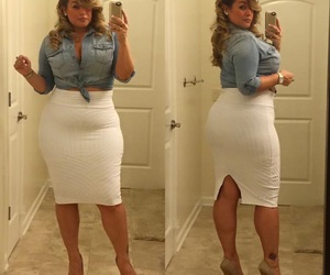 plus size and skirt image