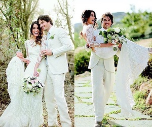 beautiful, bride, and love image