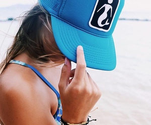 beach, cap, and cool image