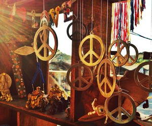 hippie, peace, and indie image
