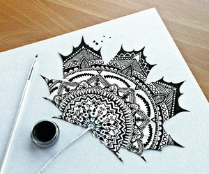 art, black and white, and ink image