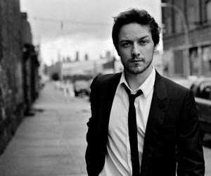 james mcavoy, black and white, and handsome image