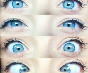 eyes, blue, and pretty image