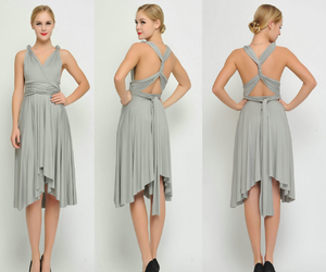 butterfly, gray, and bridesmaid dress image