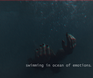 emotions, grunge, and ocean image