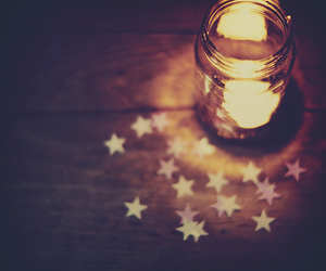 stars, light, and candle image