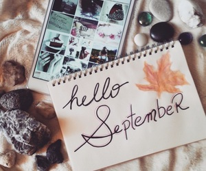 hello, September, and autumn image