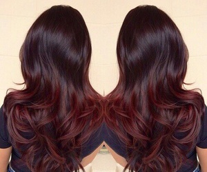 hair, ombre, and red image
