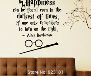 dumbledore, happiness, and harry potter image