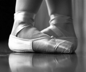 ballet, dancer, and feet image