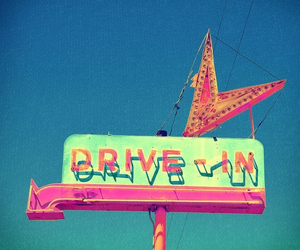 neon, drive in, and sign image