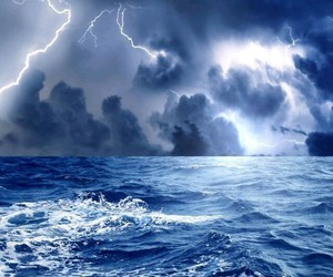 nature, ocean, and storm image