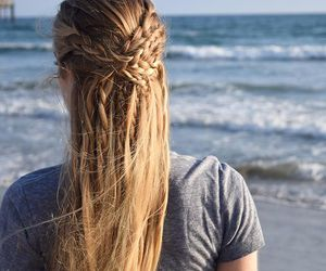 beach and hair image