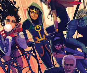 young avengers, hawkeye, and Marvel image