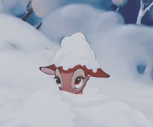 disney, bambi, and snow image