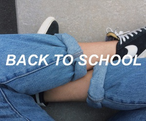 school, grunge, and jeans image