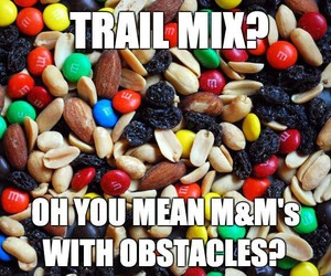 funny, snacks, and m&ms image