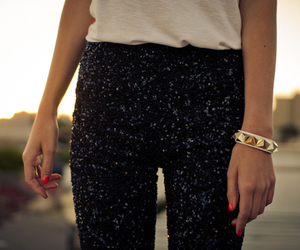 fashion, bracelet, and outfit image