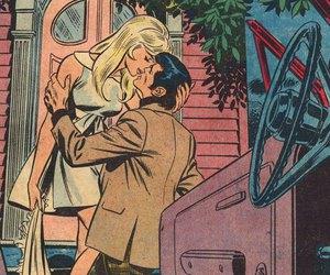 pop art, love, and comic image