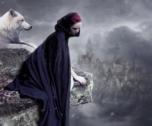 alone, dark, and fantasy image