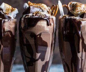 food, chocolate, and milkshake image