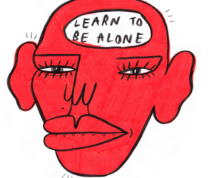 important, quote, and learn to be alone image