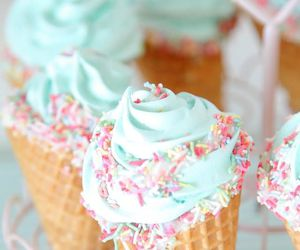 ice cream, sweet, and food image