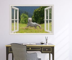 decal, horse, and 3d illusion image