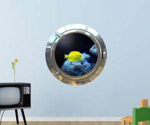 decal, 3d illusion, and submarine image