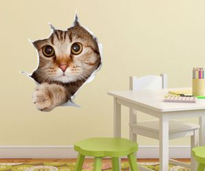 kitty, decal, and 3d illusion image