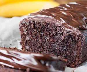 banana, cake, and chocolate image
