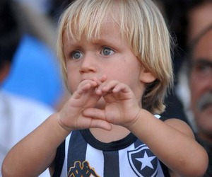 heart, little kid, and botafogo image